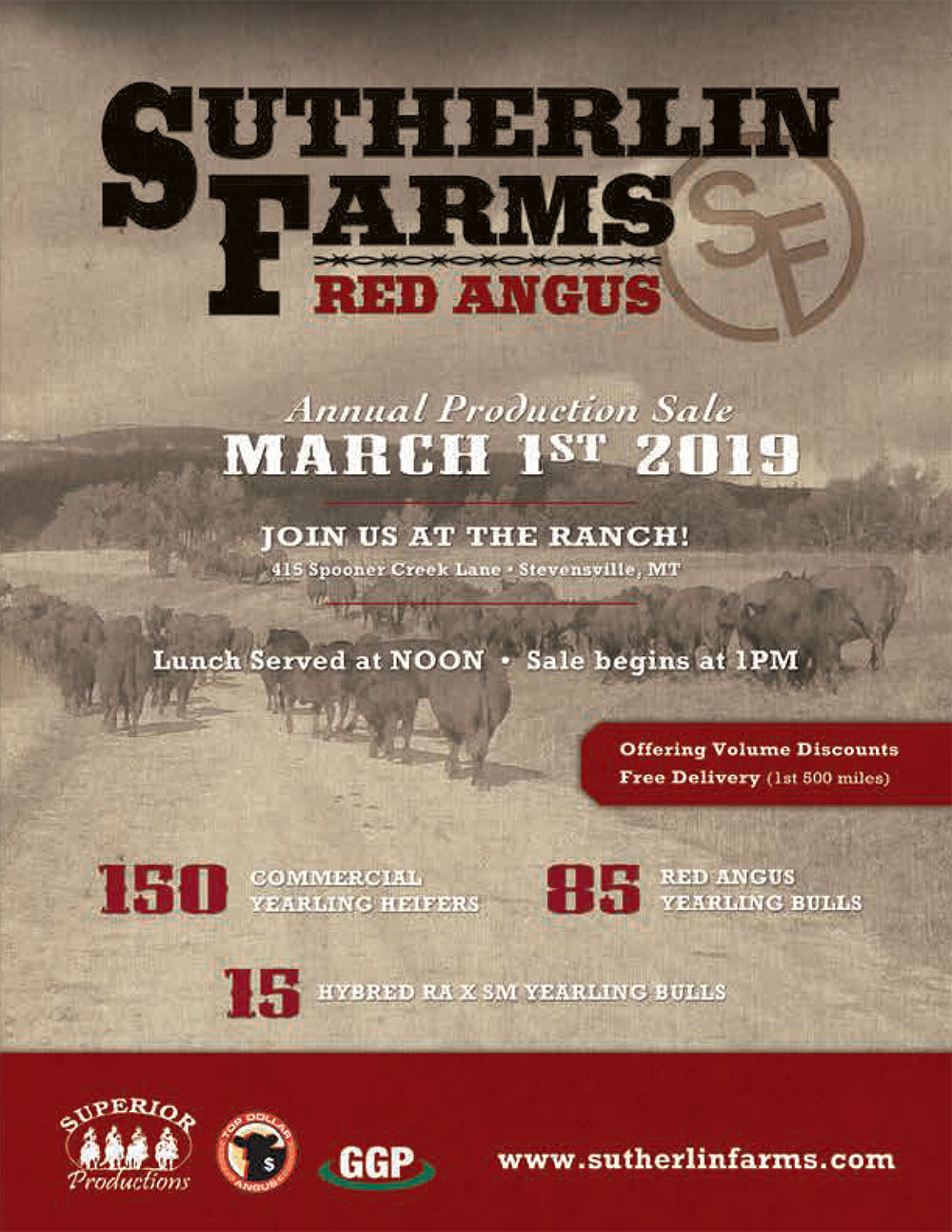 Sutherlin Farms Red Angus Sale