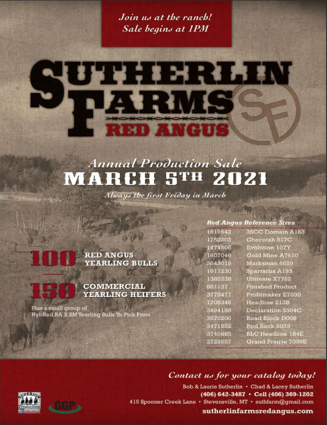 2021 Sutherlin Farms Red Angus Sale
